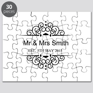 Custom Couples Name and wedding date Puzzle